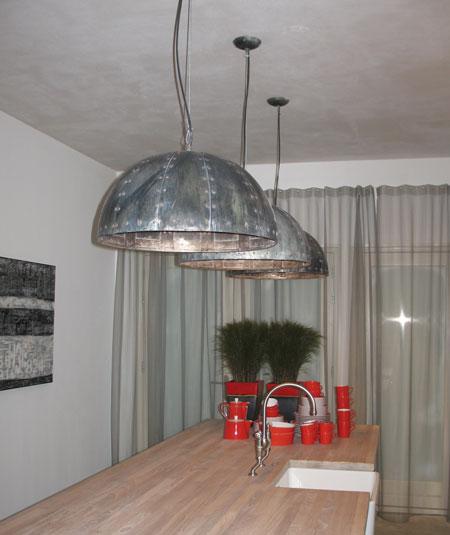 Koperen zinken lampen binnenverlichting for Nostalgische lampen